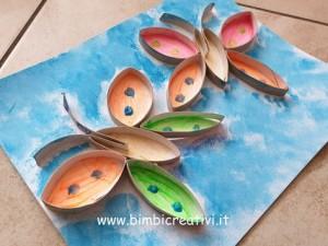 farfalle con rotoli carta igienica