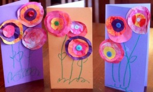 fiori circolari carta