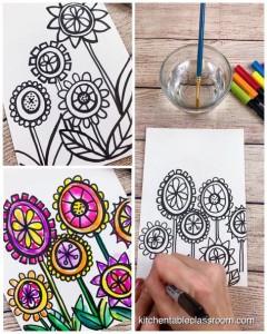 fiori con pennarelli 2